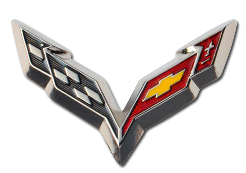 C7 Corvette Beveled Lapel Pin-ChevyMall