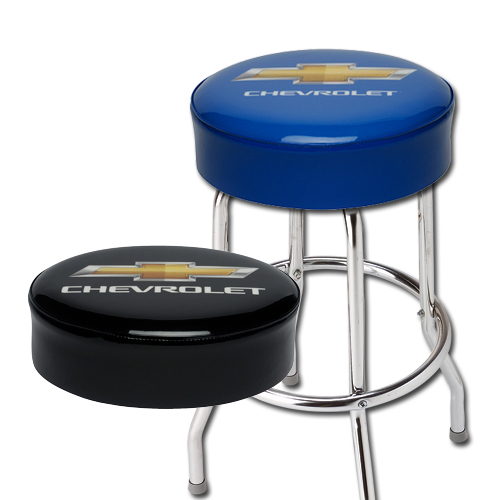 chevrolet bowtie shop stool chevymall
