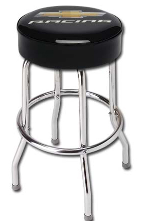 chevrolet racing shop stool chevymall
