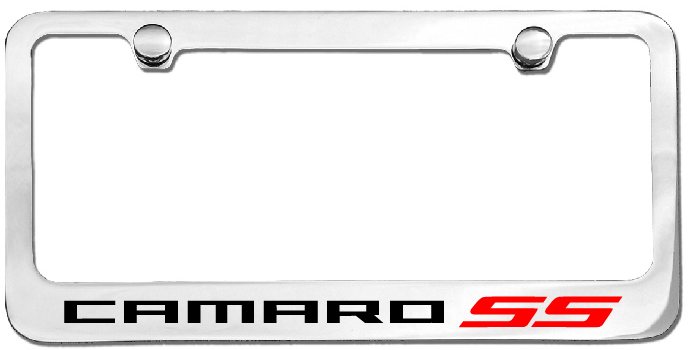 camaro ss license plate frame
