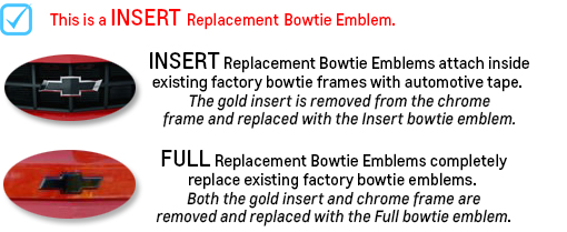2014 - 2015 Silverado 1500 Insert Black Bowtie Emblem-ChevyMall