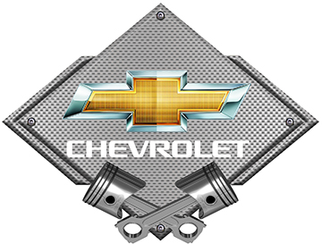 Chevrolet Silver Carbon Fiber Metal Sign Choose Logo