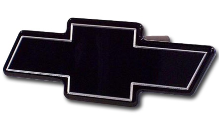 Chevrolet Bowtie Black Hitch Cover-ChevyMall