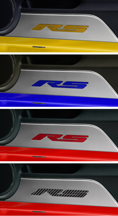 2010 - 2015 Camaro RS Carbon Fiber Door Panel Kick Plates ...