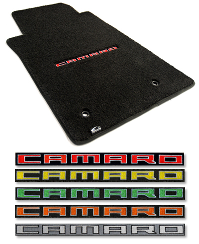 2010 2015 Camaro Logo Floor Mat Set Choose Color Chevymall