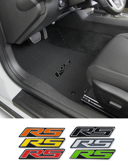 2016 2019 Camaro Coupe Rs Logo Floor Mat Set Choose Color Chevymall