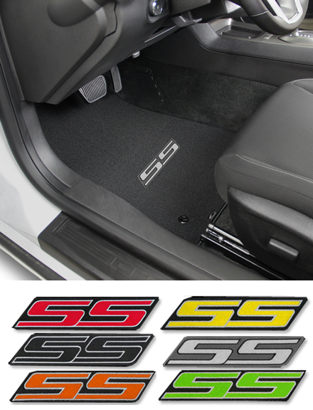 2010 2017 Camaro Ss Logo Floor Mat Set Choose Color