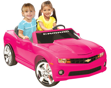 Chevrolet Camaro Pink 2 Seater 12v Kids Car-ChevyMall