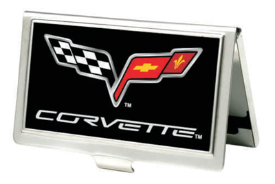Official chevrolet licensed merchandise apparel for Corvette business card holder