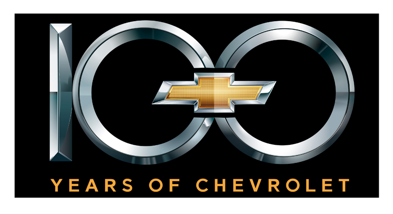 Chevrolet Centennial 100th Emblem Metal Sign Chevymall
