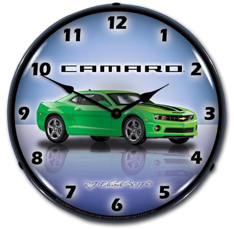 Camaro 5th Gen Wall Clock - Choose Exterior Color - ChevyMall
