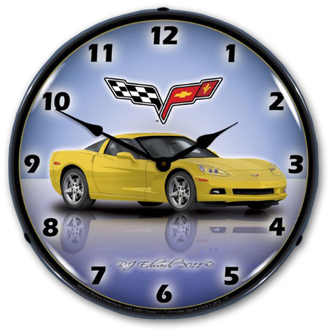 C6 Corvette Wall Clock Choose Exterior Color Chevymall