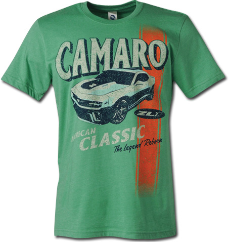Camaro zl1 american classic t shirt chevymall for All american classic shirt