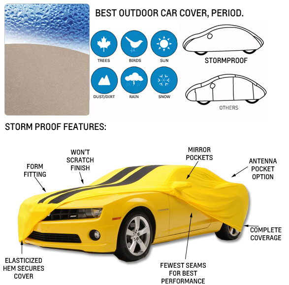 """Waterproof Car Storage Cover 190/""""-210/"""" for 1992-1996 2010 Chevy Camaro"""